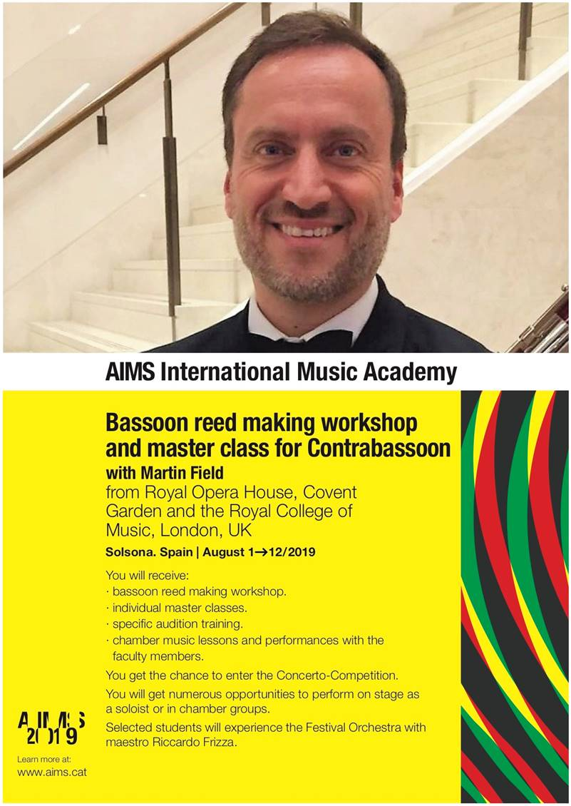 AIMS Academy 2019 (International Music Academy of Solsona) Basson et Contrebasson