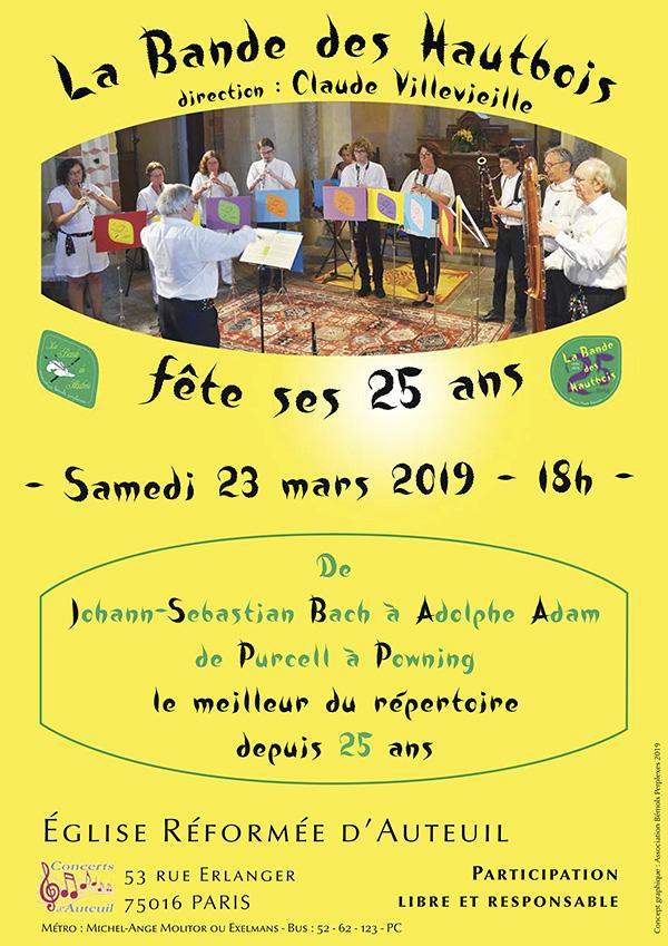 La Bande des Hautbois fête ses 25 ans les 23 et 24 mars