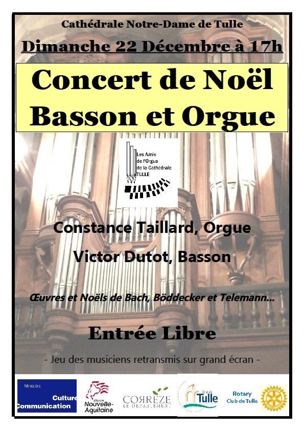 Concert orgue et basson à Tulle