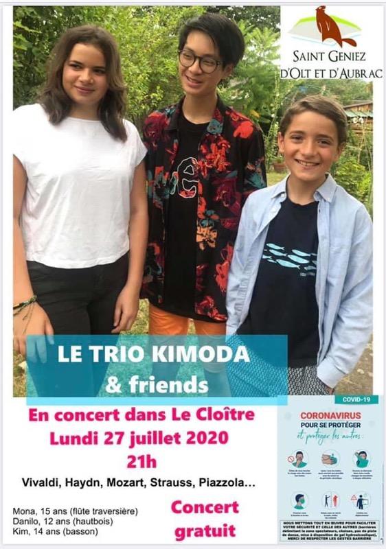 Trio KIMODA en Concert à Saint-Géniez d'Olt