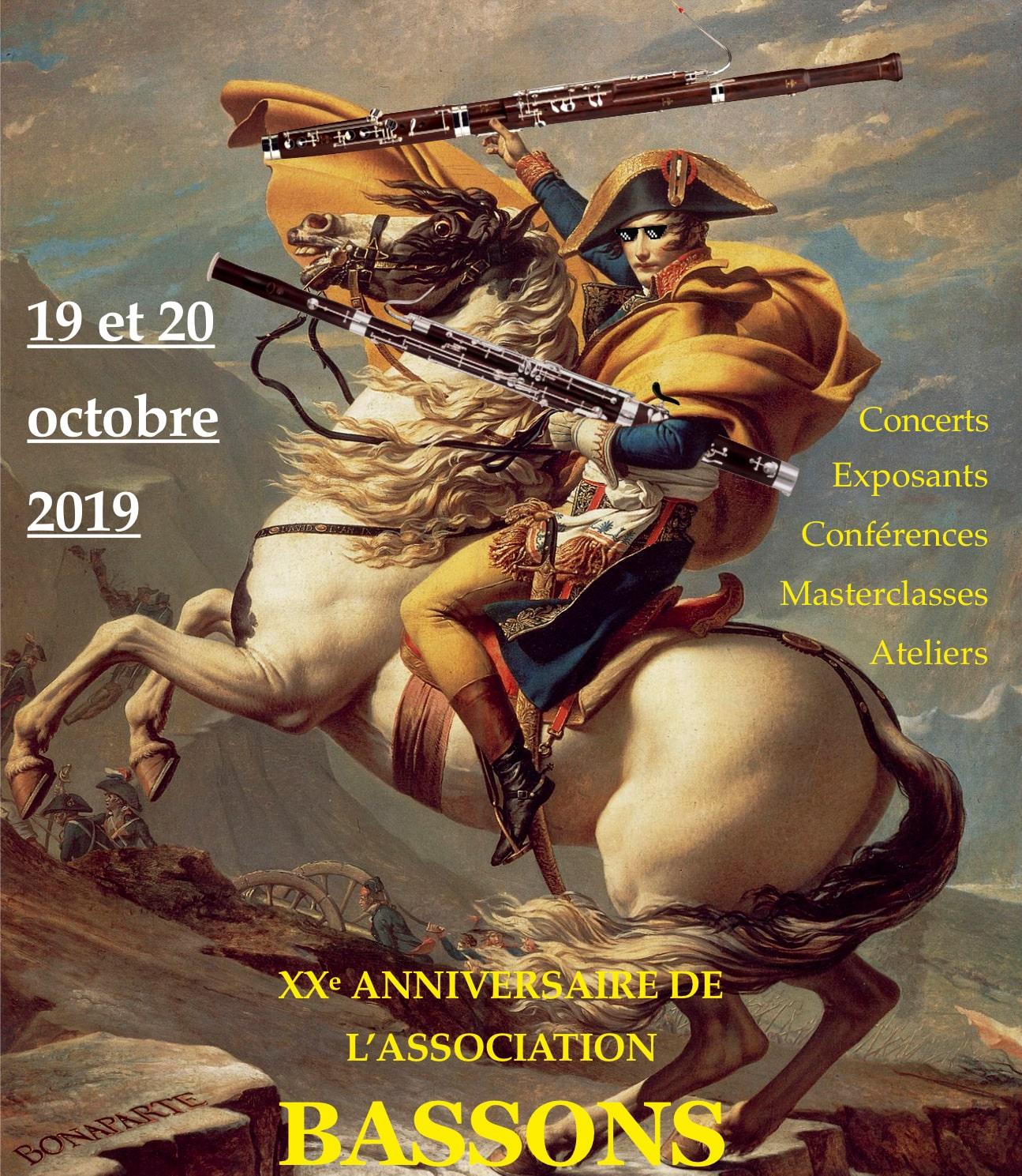 XXe anniversaire de l'association les 19 et 20 octobre 2019 au CRR de RUEIL-MALMAISON